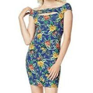 NWT Guess Exotic Tropical Blue Navine Dress M